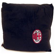 Ac Milan Cuscino Con Logo Nero