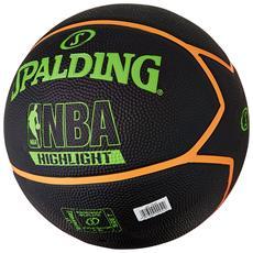 Highlight Green / orange Size 7 Rubber Basketball Rubber