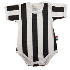 ZIGOZAGO - Body Bianconero A Righe Juventus. Taglia: 9 Mesi