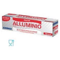 Rotolo Alluminio Per Alimenti 100 Mt. Europack Con Astuccio E Seghetto