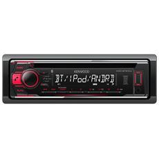 Sintolettore CD KDC-BT510U Potenza 4x50W Supporto MP3 / WMA USB / AUX / WAV Nero