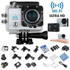 """4k Action Camera Cam Ultra Hd 12mp Videocamera Fotocamera Wifi Waterproof Versione Wifi Con Moltissimi Accessori E Schermo 2"""""""