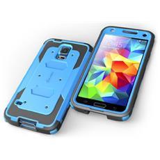 Custodia Armorbox per Galaxy S5 Colore Nero e Blu