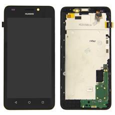 Lcd Touch Screen Vetro E Cover Frame Completo Nero Per Y635