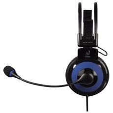 uRage Vibra Stereofonico Padiglione auricolare Nero, Blu cuffia e auricolare