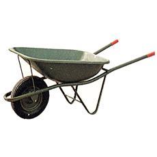 Carriola con ruota pneumatica e vasca da 90 lt