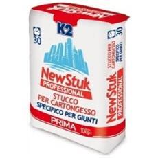Stucco K2 In Polvere Per Cartongesso Riempitivo Color Bianco Kg. 5 F174