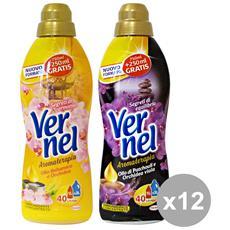 Set 12 Ammorbidente Concentrato 1 Lt. Aromater. nero-oro Detergenti Casa