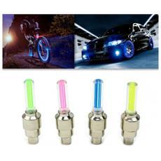 Pack 2 Pz Luci Led Fluorescenti Per Auto Bici E Moto Decorazione Ruote - Rosa