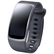 """Activity Tracker Gear Fit 2 Dsipaly 1.5 """" con Bluetooth e Cardiofrequenzimetro Taglia S Colore Nero"""