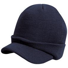 RESULT HEADWEAR - Berretto In Maglia Con Visiera Uomo (taglia Unica) (blu  Navy) 2e2071c7f678