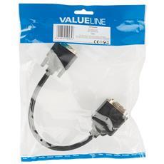 DVI-I / DVI-I + VGA, 0.20m, DVI-I, DVI + VGA (D-Sub) , Maschio, Femmina, Oro, Cloruro di polivinile (PVC)