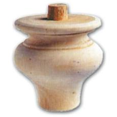 Gamba per Mobili a Cipolla in Legno di Ontano 96x104 mm Art. 03.0021