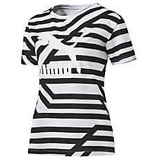 T-shirt Donna Aop Rihanna Bianco Fantasia M