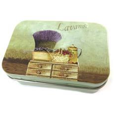 scatola di metallo 'lavande' viola - [ n6550]