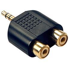 35624 3.5mm 2 x RCA Nero cavo di interfaccia e adattatore