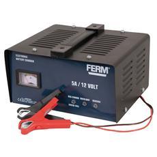 Caricabatterie 12V - Corrente Di Carica 5A - Batteria Min 10Ah Max 50Ah Completa Di Accessori