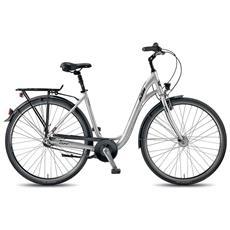 City Bike Ktm City Line 28.3 3v Nexus Coasterbrake Argento Opaco