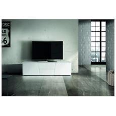 Porta Tv 165x45 Abete Bianco Spazzolato