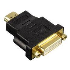 Adattatore monitor HDMI M / DVI-D F, Dual Link, connettori dorati, nero, 3 stelle