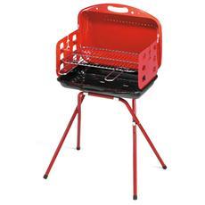 Barbecue a Valigetta Acciaio Smaltato a Carbone
