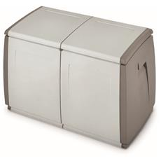 Contenitore Home Storage In&out box 97 h grigio / tortora baule in resina L97 x P54 x H57