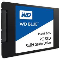 """SSD 250 GB WD Blue 2,5"""" Interfaccia Sata III 6 Gb / s"""