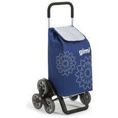 Carrello Spesa Tris 3r Floral Blu Spesa Facile Shopper