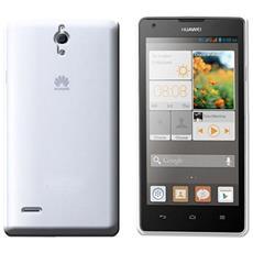 Silicone Case Huawei Ascend G700 White Trasparente