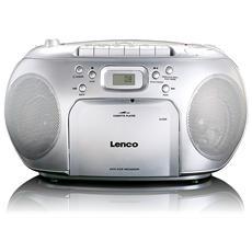 Lettore Radio FM / CD / Cassette Display LCD Colore Silver