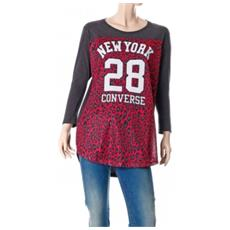T-shirt Donna Authentic Lady Mesh Leopard M Grigio Fantasia