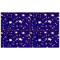 Offerta 4 Rotoli Carta Cielo Metallizzata Stelle Argento 70x100cm Presepe
