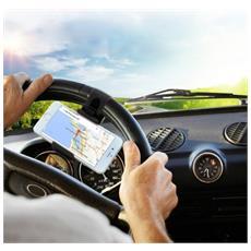 Supporto Elastico Volante Auto Universale Per Smartphone Da 5.5 A 8.6 Cm
