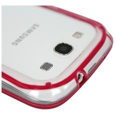 SIBUSAI9300RE Cover Rosso, Trasparente custodia per cellulare