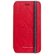 Flip Cover Custodia in Pelle per iPhone 6 / 6S Colore Rosso