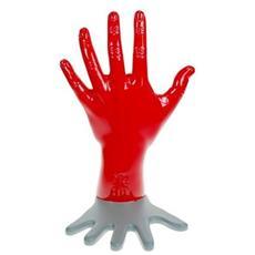 'Ferma libri lombra'' Articolo in resina lavorata a mano da artigiani italiani Misure cm 20 x 12 x 20 Colore rosso lucido