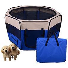 Box per animali Recinzione per cuccioli Cuccia, dimensioni: 125 x 125 x 58 cm, colore : blu scuro