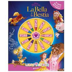 La Bella e la Bestia. Libro pastello. Con 12 pastelli