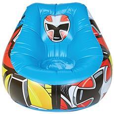 Ready Room 289pwr Power Rangers Poltrona Gonfiabile Da Riposo Per Bambini, Pvc, Multicolore, 78 X 78 X 60 Cm