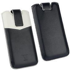 210129 Custodia a sacchetto Blu, Bianco custodia per cellulare