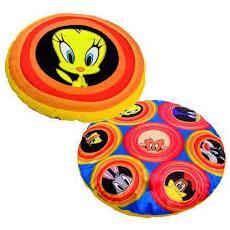 Looney Tunes - Cuscino Rotondo In Peluche E Satin 35 Cm