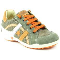 Scarpe Marrone Arancione Velcro Bambino 87371/00 34