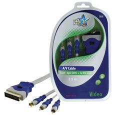 2.5m SCART M / S-Video M + 2xRCA M, 2,5m, SCART (21-pin) , 2 x RCA + S-Video, 16,5 cm, 8 cm, 400g