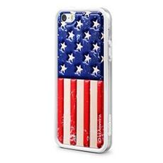 Cover Custodia Per Smartphone Cushi® Plus Flag - Iphone 5/5s - Usa
