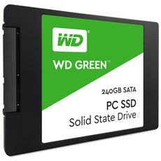 """SSD 240 GB WD Green 2,5"""" Interfaccia Sata III 6 Gb / s"""