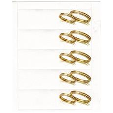 20 Bigliettino Per Matrimonio E Anniversario, Con Fedi Color Oro - Bomboniera Fai Da Te
