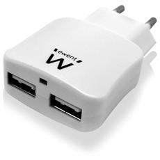 Caricatore da muro con 2 porte USB