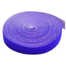 ISWT-ROLL-1025 - Rotolo di Velcro Fermacavi Lunghezza 25 m Larghezza 10 mm Blu