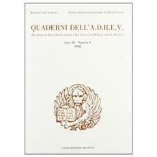 Quaderni dell'A. D. R. E. V. : Archivio di Documentazione e Ricerca sull'Emigrazione Veneta. Vol. 4/99