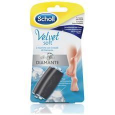 DR. Scholl – 2 Ricariche per Velvet Soft per una Pedicure Professionale (Extra Esfoliante + Soft Touch)